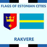 Official Flag of Estonian city Rakvere Royalty Free Stock Photography