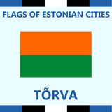Official Flag of Estonian city Torva Royalty Free Stock Photos