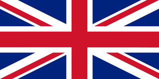 The official flag of the UK Royalty Free Stock Photos