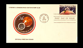 Official Frist Day Cover. UNITED STATES - CIRCA 1970's :Official Frist Day Cover A stamp printed in United States. Viking mission to Mars. United States - CIRCA Stock Photography