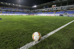 The official game ball of UEFA Europa League game between Qabala Royalty Free Stock Image
