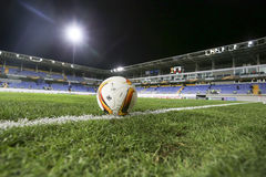 The official game ball of UEFA Europa League game between Qabala Stock Image
