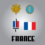 Official government elements of European countries. Elements of. France Stock Photo