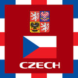 Official government ensigns of Czech Stock Photos