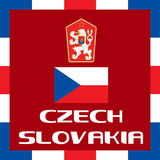 Official government ensigns of Czech Slovakia Stock Photography