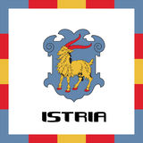 Official government ensigns of Istria Stock Photo