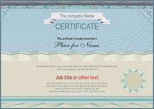 Official Gray Certificate. Diploma. Official blank Royalty Free Stock Photo