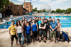 Official Group Shot of Staff and Athletes of 2014 Freediving Mon Royalty Free Stock Photography