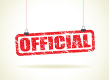 Official hanging sign Royalty Free Stock Images
