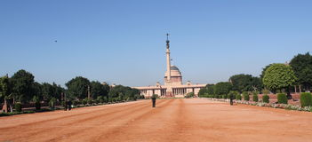 Official Home Of The President Of India Stock Photo