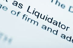 Official letter from Liquidator Royalty Free Stock Image