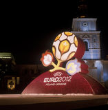 Official logo for UEFA EURO 2012. Royalty Free Stock Photo