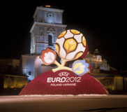 Official logo for UEFA EURO 2012. KYIV, UKRAINE-DECEMBER 14: Official logo for UEFA EURO 2012. After presentation of the official logotype for UEFA EURO 2012 Stock Photo