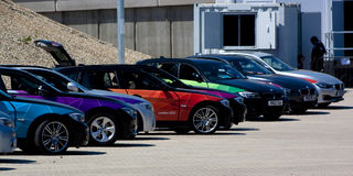 Official London 2012 Olympic BMW 5 series. Stock Images