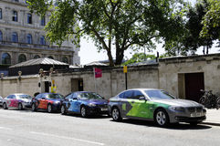 Official London BMW 2012 5 serie Arkivfoton