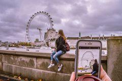 The official london eye royalty free stock photography
