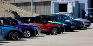 Official London OS 2012 BMW 5 serie. Arkivbilder
