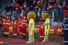 The official mascot of the National Football Team of Romania Stock Images