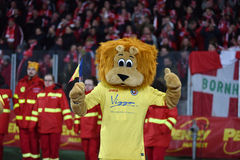 The official mascot of the National Football Team of Romania Stock Image