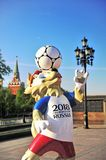Official mascot Zabivaka of FIFA World Cup 2018 in Moscow Royalty Free Stock Image