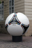 Official matchball of EURO2012 POLAND - UKRAINE Stock Photography