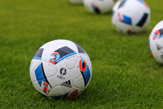 Official matchballs of UEFA EURO 2016 (Adidas Beau Jeu) Stock Images