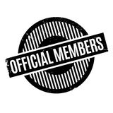 Official Members rubber stamp Stock Photography