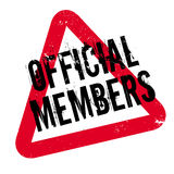 Official Members rubber stamp Stock Photos