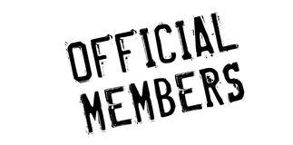 Official Members rubber stamp Stock Photo