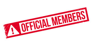 Official Members rubber stamp Royalty Free Stock Image