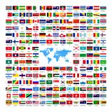 Official National Country Flags 2019 stock illustration