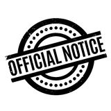 Official Notice rubber stamp. Grunge design with dust scratches. Effects can be easily removed for a clean, crisp look. Color is easily changed Royalty Free Stock Photo