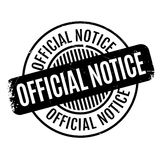 Official Notice rubber stamp. Grunge design with dust scratches. Effects can be easily removed for a clean, crisp look. Color is easily changed Royalty Free Stock Photos
