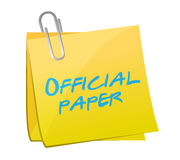 Official paper written on a post illustration Royalty Free Stock Image