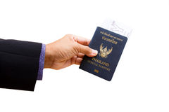 Official passport and ticket Stock Image