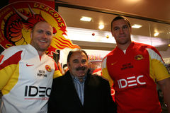 Official presentation of the Catalans Dragons f Stock Photo