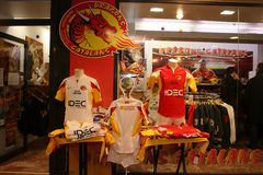 Official presentation of the Catalans Dragons f Stock Images