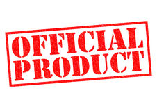 OFFICIAL PRODUCT. Red Rubber Stamp over a white background Royalty Free Stock Photography