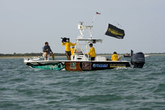 The official PTTS Television boat. The official Television boat for the 2008 tarpon tournament held at Boca Grande Pass, Florida Stock Photos