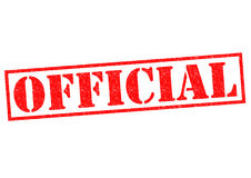 OFFICIAL. Red Rubber Stamp over a white background Stock Image