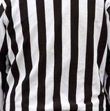 Official referee shirt stripes Stock Image