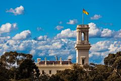 The official residence of the Governor of Victoria. Government House - the official residence of the Governor of Victoria, situated in Melbourne, Australia stock photo