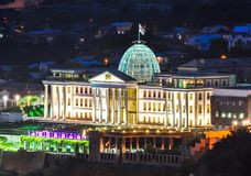 Official residence of president of Georgia in Tbilisi stock photos