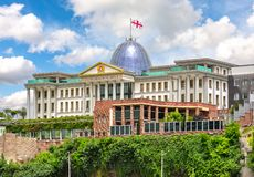 Official residence of president of Georgia in Tbilisi royalty free stock image