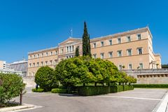 Official residence of the President of the Hellenic Republic. Designed by Ernst Ziller, built in a neoclassical style in the years 1891-1897 stock photography