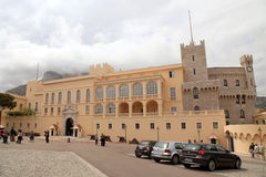 Official residence of the Prince of Monaco. MONTE CARLO, MONACO - MAY 15, 2013: Prince Palace of Monaco is a popular tourists attractions. Official residence of Royalty Free Stock Photo