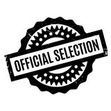 Official Selection rubber stamp. Grunge design with dust scratches. Effects can be easily removed for a clean, crisp look. Color is easily changed Stock Photography