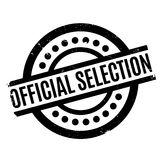 Official Selection rubber stamp. Grunge design with dust scratches. Effects can be easily removed for a clean, crisp look. Color is easily changed Royalty Free Stock Photography