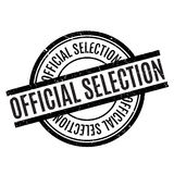 Official Selection rubber stamp. Grunge design with dust scratches. Effects can be easily removed for a clean, crisp look. Color is easily changed Stock Image