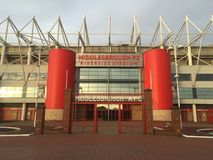 Middlesbrough Riverside Stadium. Official stadium for Middlesbrough FC, located in Teesside Stock Photography